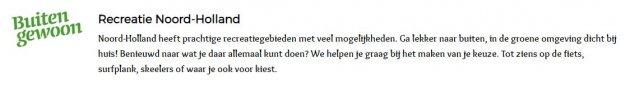 Nieuwe opdracht bij Recreatie Noord-Holland als Assistent a.i. Human resource